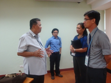With Dr. Felipe Miranda and fellows at the Third World Studies Center discussing emerging trends and futures of democracy, Philippine Political Science Conference, 2012, Cagayan De Oro City, Philippines