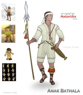Maharlika (digitized) as the Anak Bathala by Nordenx Digital Art. Here the Mahalika is the embodiment of the native's island greatness.  He is a master of advanced tactics and born leader.