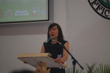 On behalf of Dr. Riel Miller and the UNESCO Headquarters, Ms. Linda Tinio Le-Douarin explained the context and purposes of the UNESCO forum-workshop