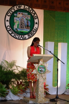 Laoag City Mayor Hon. Chevyyle Farinas sharing Laoag City's resilience building approach and creating valuable future for Laoag