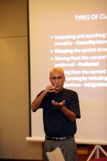 Professor Sohail Inayatullah facilitated the workshop. Photos credit to Think City 2014